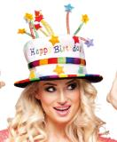 Rainbow Happy Birthday Cake Hat